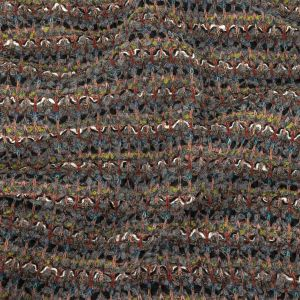 Gray, Green, and Red Striped Chunky Wool Knit with Clear Baby Sequins