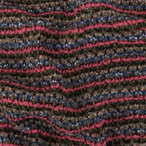 Pink, Hunter and Blue Stripes Boucled Wool Sweater Knit
