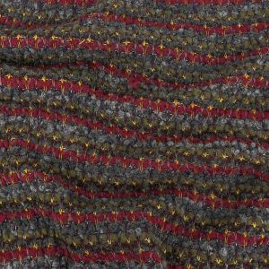 Rifle Green, Windsor Wine, and Raven Loopy Striped Wool Knit