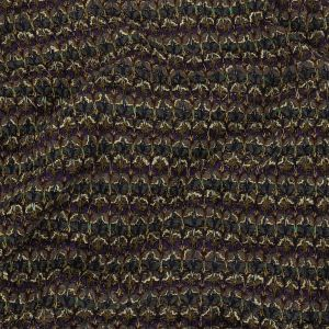 Charcoal, Purple, and Mustard Chunky Wool Knit with Metallic Silver Accents