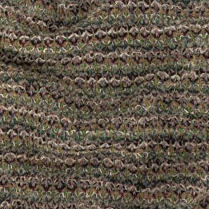 Fennel Seed, Lime and Moon Rock Stripes Boucled Wool Sweater Knit