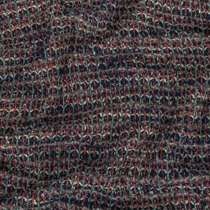 Navy, Rainy Day and Multicolor Tweedy Wool Blend Sweater Knit