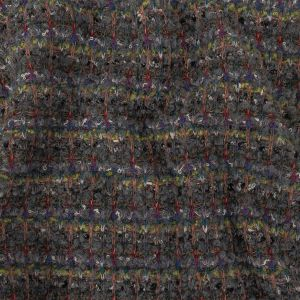 Italian Gray and Lime Green Fuzzy Boucle Wool Knit