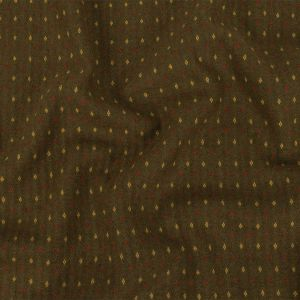 Olive, Ceylon Yellow and Chili Oil Diamonds Brushed Blended Cotton Jacquard