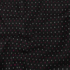 Black, White and Magents Diamonds Brushed Blended Cotton Jacquard