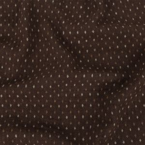 Brown, Otter and Sugar Swizzle Diamonds Brushed Blended Cotton Jacquard