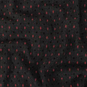 Peat, Black and Pink Broken Stripes or Spots Brushed Woven