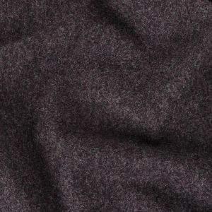 Charcoal and Gothic Grape Heathered Brushed Wool Coating