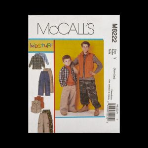 McCall's Boy's Shirt, Vest and Pants Pattern M6222 Size Y (XSM-SML)