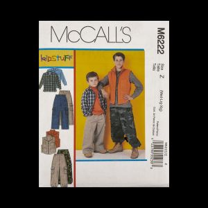 McCall's Boy's Shirt, Vest and Pants Pattern M6222 Size Z (MED-LRG-XLG)