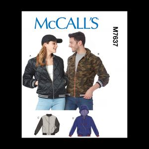 McCall's Misses' and Men's Jackets Pattern M7637 Size XN (XLG-XXL-XXXL)