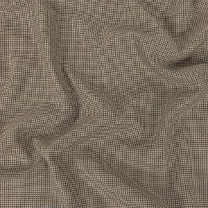 Gray and Brown Houndstooth Blended Cotton Suiting