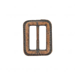 Italian Rugged Brown Faux Leather Slider - 1.5