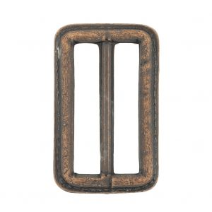 Italian Rugged Brown Faux Leather Slider - 2.5