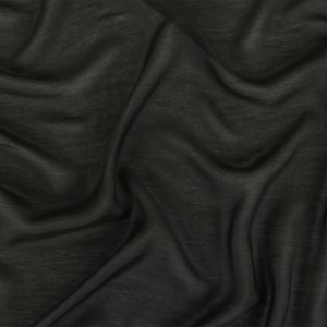 Black Silk and Cotton Voile