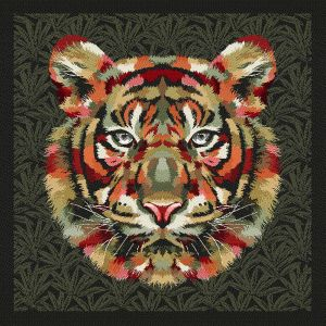 French Khaki and Olive Bengal Tiger Chief Oversized Square Patch - 18.875