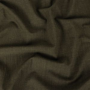 Italian Army Green Heathered Stretch Suiting