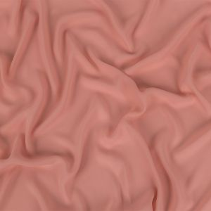 Coral Pink Polyester Georgette
