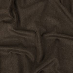 Heathered Chocolate Stretch Cotton Twill Suiting