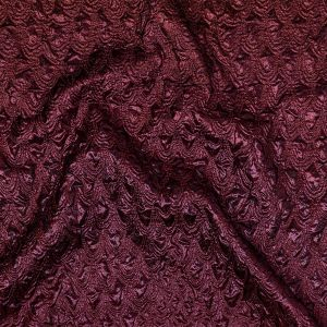 Mood Exclusive Metallic Sceptre Red and Violet Feathers Ombre Luxury Brocade Panel