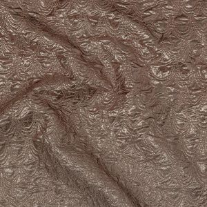 Mood Exclusive Metallic Rose Gold and Silver Feathers Ombre Luxury Brocade Panel