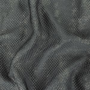 Mood Exclusive Metallic Silver and Gray Tiny Diamonds Quilted Luxury Brocade