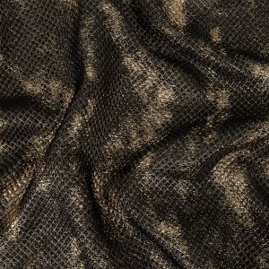 Mood Exclusive Metallic Gold and Black Tiny Diamonds Quilted Luxury Brocade