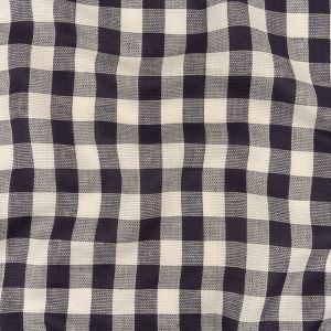 Maritime Blue and White Buffalo Check Linen and Cotton Dobby