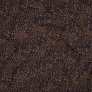 Deepsea Blue and Toasted Coconut Cheetah Stretch Cotton Jersey