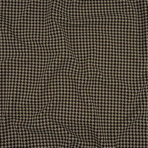 Blackstone and Beige Houndstooth Stretch Cotton Jersey