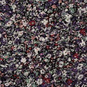Purple, Magenta and Tea Green Floral Stretch Rayon Jersey