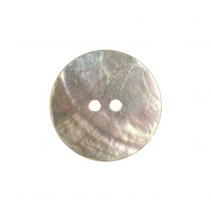 Rainy Day and Greige Iridescent 2-Hole Shell Button - 36L/23mm