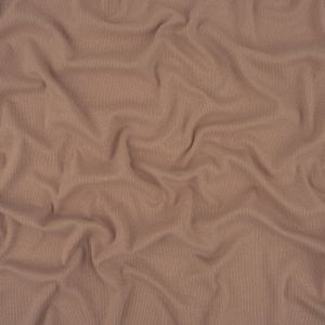 Shell Pink Cotton and Polyester 2x2 Rib Knit