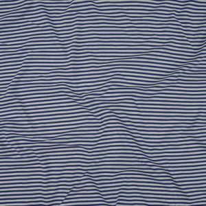 Blue and White Candy Stripes Cotton and Rayon Jersey
