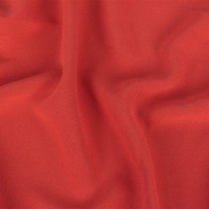 Jason Wu Hot Coral Polyester Crepe and Twill Double Cloth