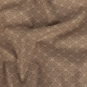 Beige and Tan Roses Cotton Jacquard Twill