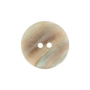 Beige, Peach and Baby Blue Iridescent 2-Hole Plastic Saucer Button - 36L/23mm