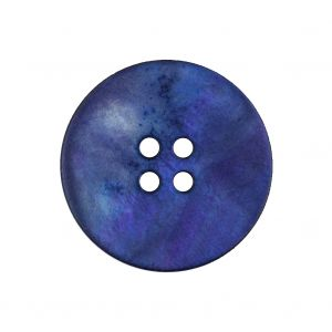 Dark Blue, Purple and Gray Cloud 4-Hole Smooth Top Plastic Button - 40L/25.5mm