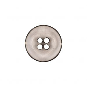 Italian Transparent and Black 4-Hole Tire Rimmed Jacket Button - 28L/18mm