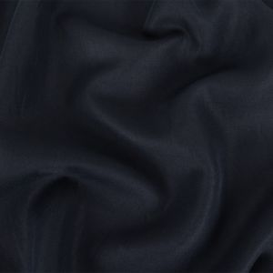 Navy Thick Cotton and Rayon Twill