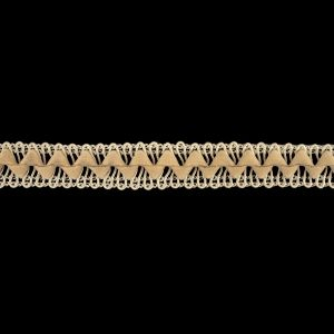 Beige and Rainy Day Cord and Faux Suede Braided Trim - 0.5