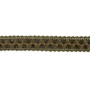 Olive Green Cord and Faux Suede Braided Trim - 0.5