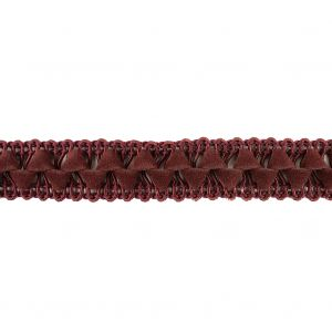 Oxblood Cord and Faux Suede Braided Trim - 0.5