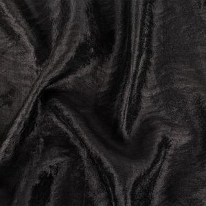 Black Shimmering Tactile Polyester and Cotton Woven