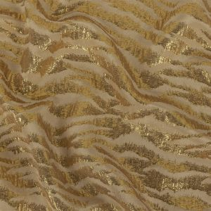 Phillip Lim Frosted Almond and Metallic Gold Zebra Stripes Brocade