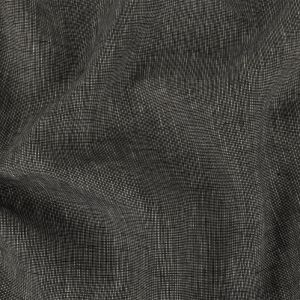 Black and Drizzle Heathered Medium Weight Linen Woven