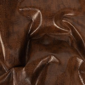 Brown Faux Reptile Leather