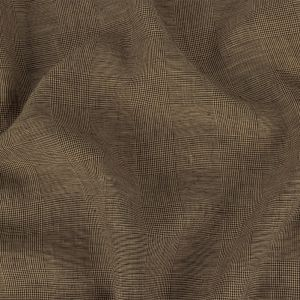 Beige and Roasted Cashew Glen Plaid Cotton and Linen Suiting