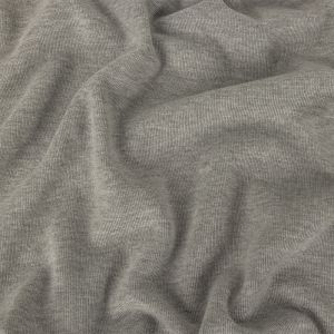 Heathered Drizzle Peached Polyester and Cotton 1x1 Rib Knit