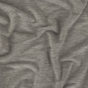 Heathered Flint Gray Stretch Cotton and Rayon French Terry
